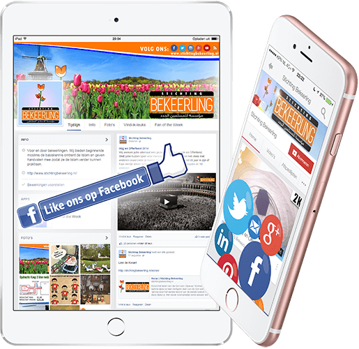 iPhone en iPad met Sociale Media