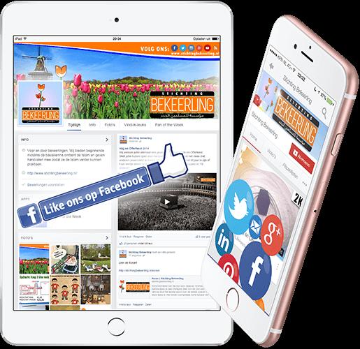 iPhone en iPad met Sociale Media