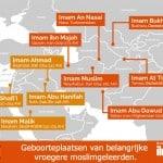 Waar zijn enkele bekende moslimgeleerden geboren?