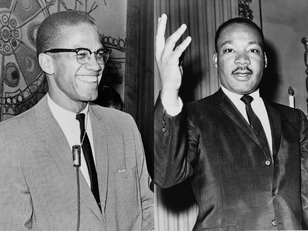 Malcolm X met Martin Luther King