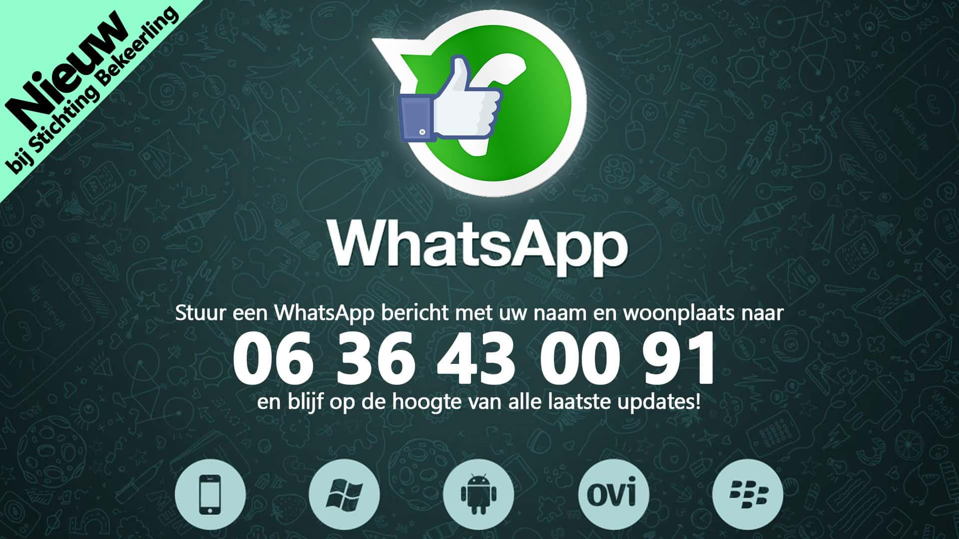 WhatsApp banner voor Facebook SB